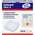 product photo CUTIMED Siltec B Schaumverb.12,5x12,5 cm m.Haftr.